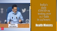 India's Covid tests per day highest in the world: Health ministry – The Economic Times Video