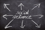 Understanding social distancing and microbial health