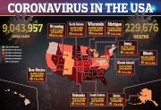 US breaks single-day coronavirus cases record for a second consecutive day with 88,520 infections