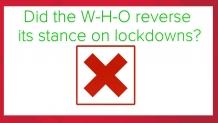 Lockdown guidelines USA: World Health Organization fact-check